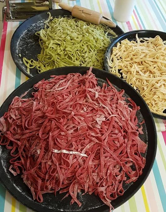 1. April 2020 | Pasta-Tricolore und Vanilleeis